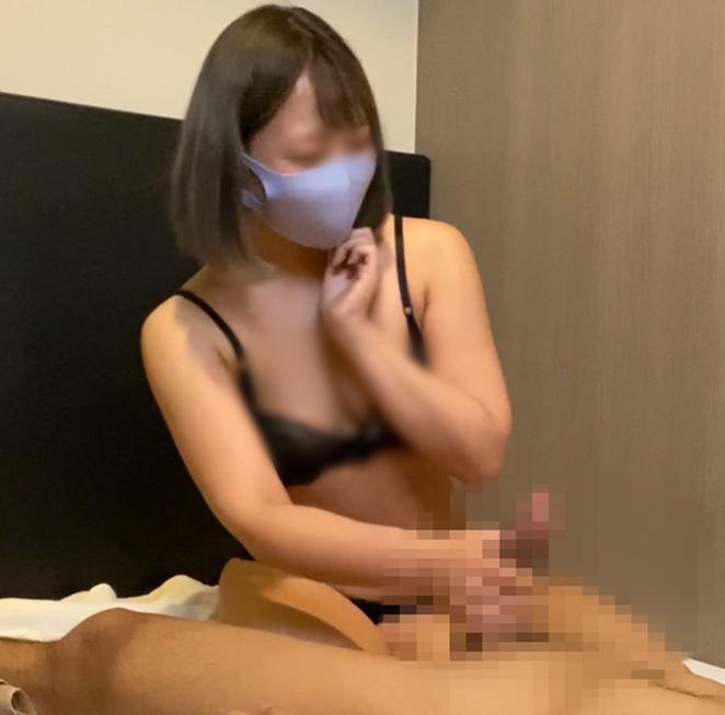 出張ローション手コキ隠し撮り・全身下着&乳首なめオプション【S級美女・真中(30歳)】